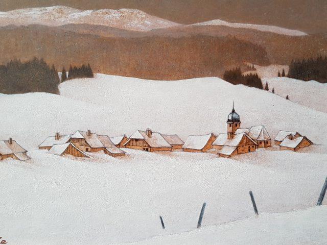 Le village au fond de la vallée