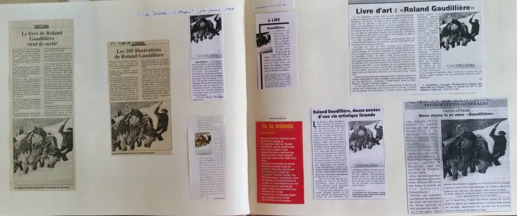106-1998 sortie du livre Roland Gaudillière