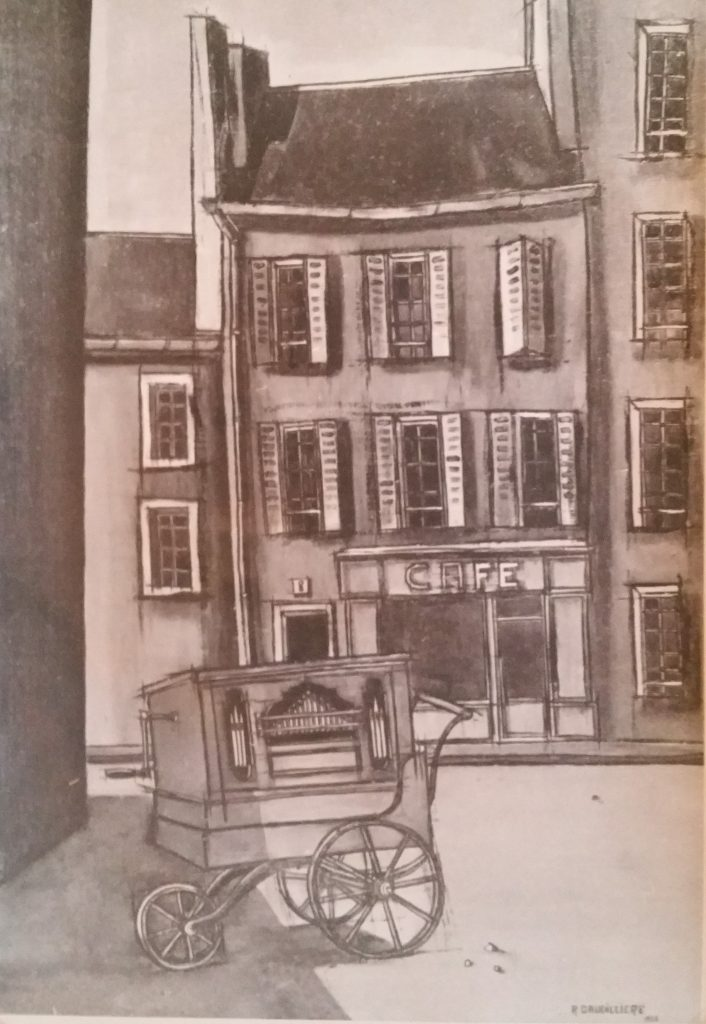1955-6 l'orgue de barbarie 0,72-0,50 isorel