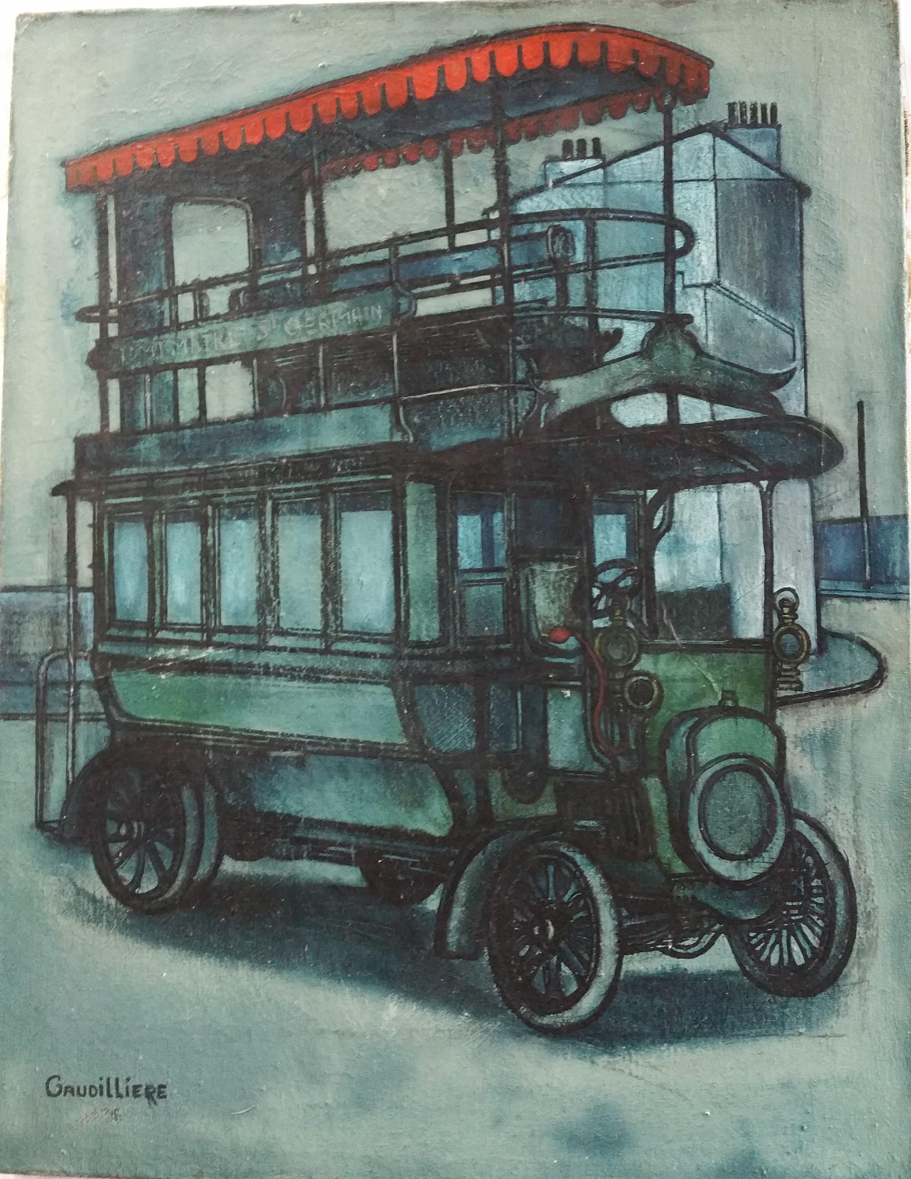 1955 l'impérial Montmartre-St Germain 0,35-0,27 toile roland gaudillière