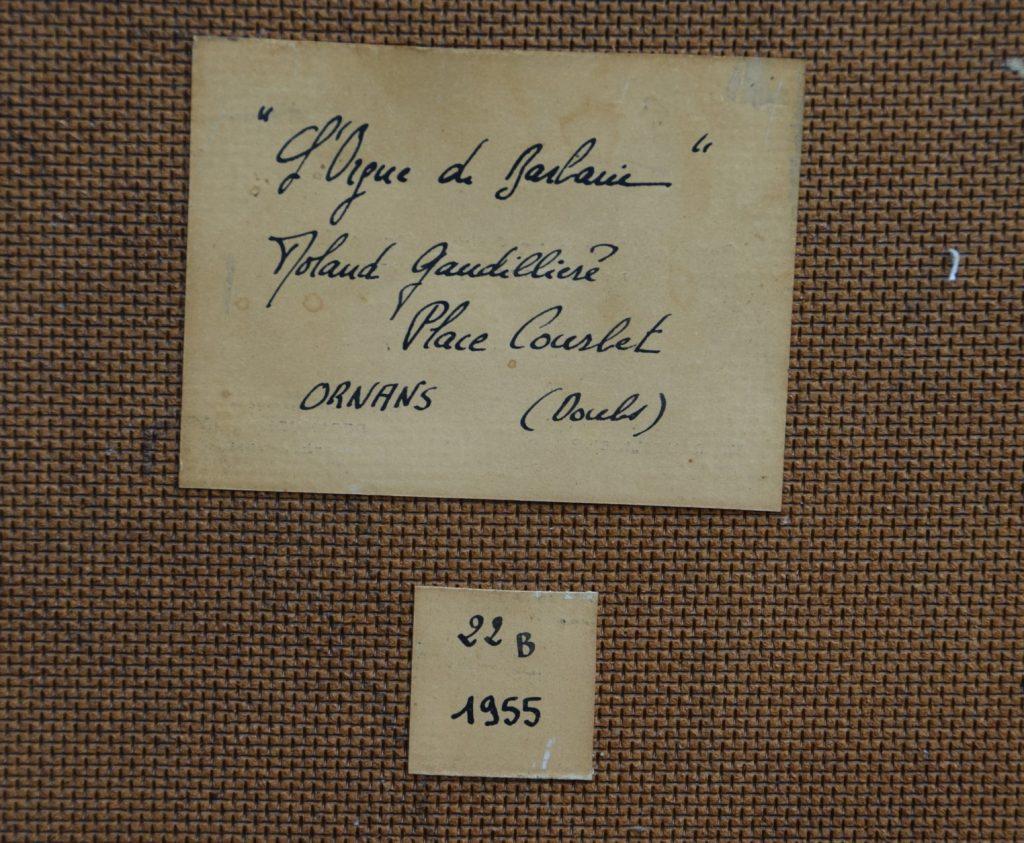 1955 l'orgue de barbarie verso