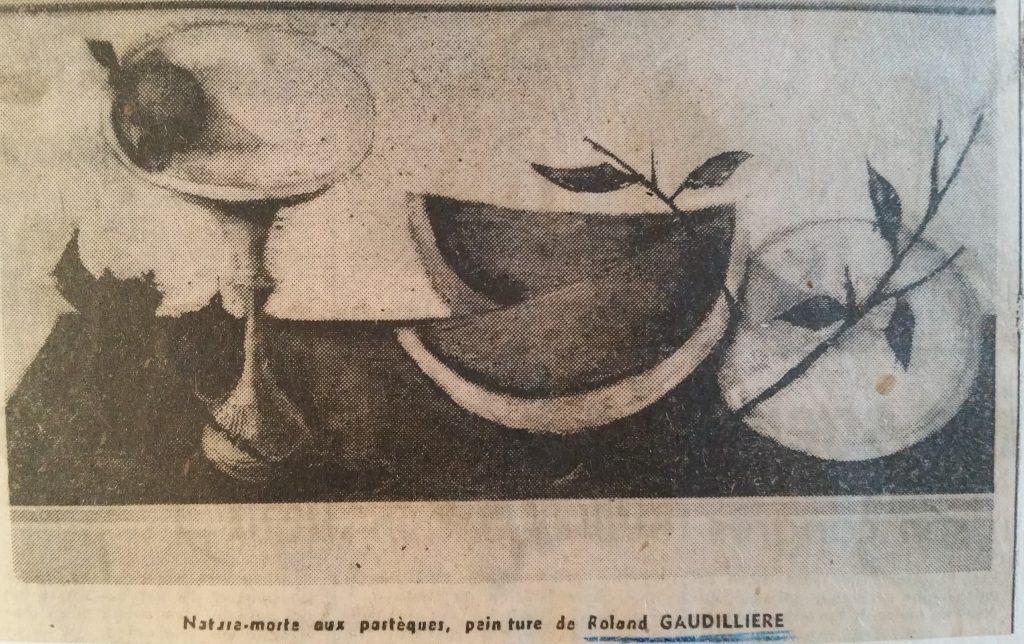1960 nature morte aux pastéques HF25 roland gaudillière