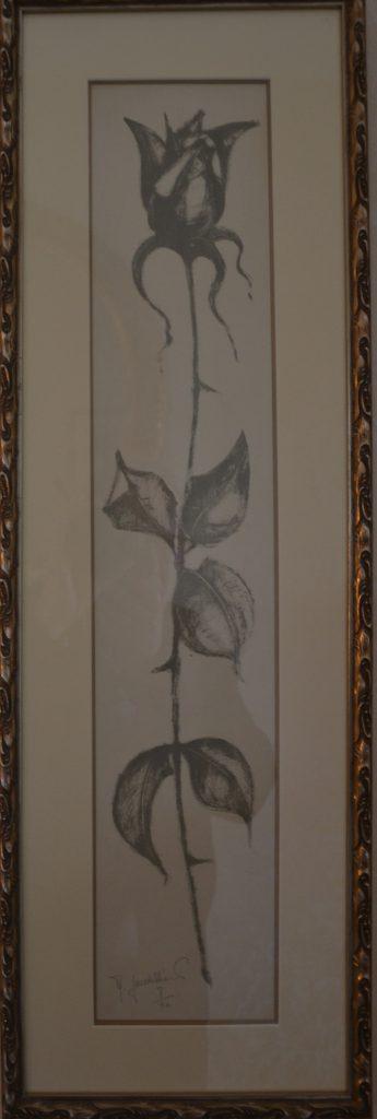 1962 la rose numéro 8sur20 0,68-0,12 litho roland gaudillière