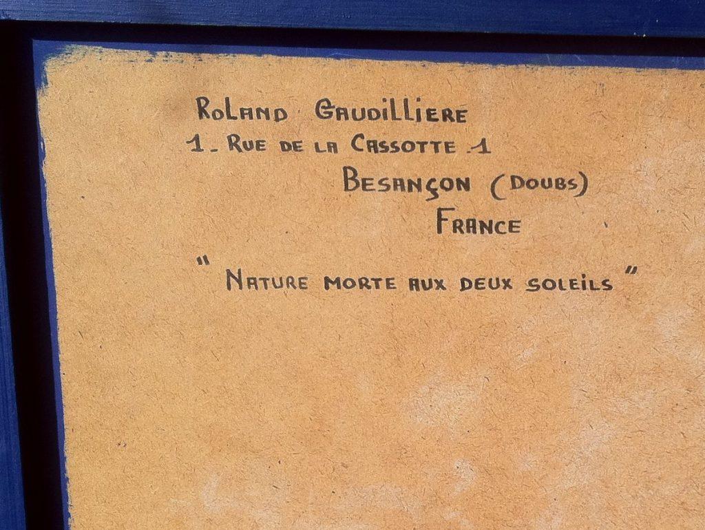 1962 nature morte aux 2 soleils verso