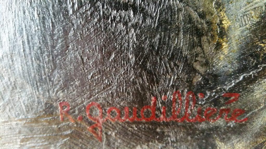 1964 le manége-chevaux de bois signature