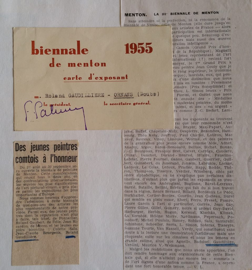 2-1955 expo groupée, biennale de Menton