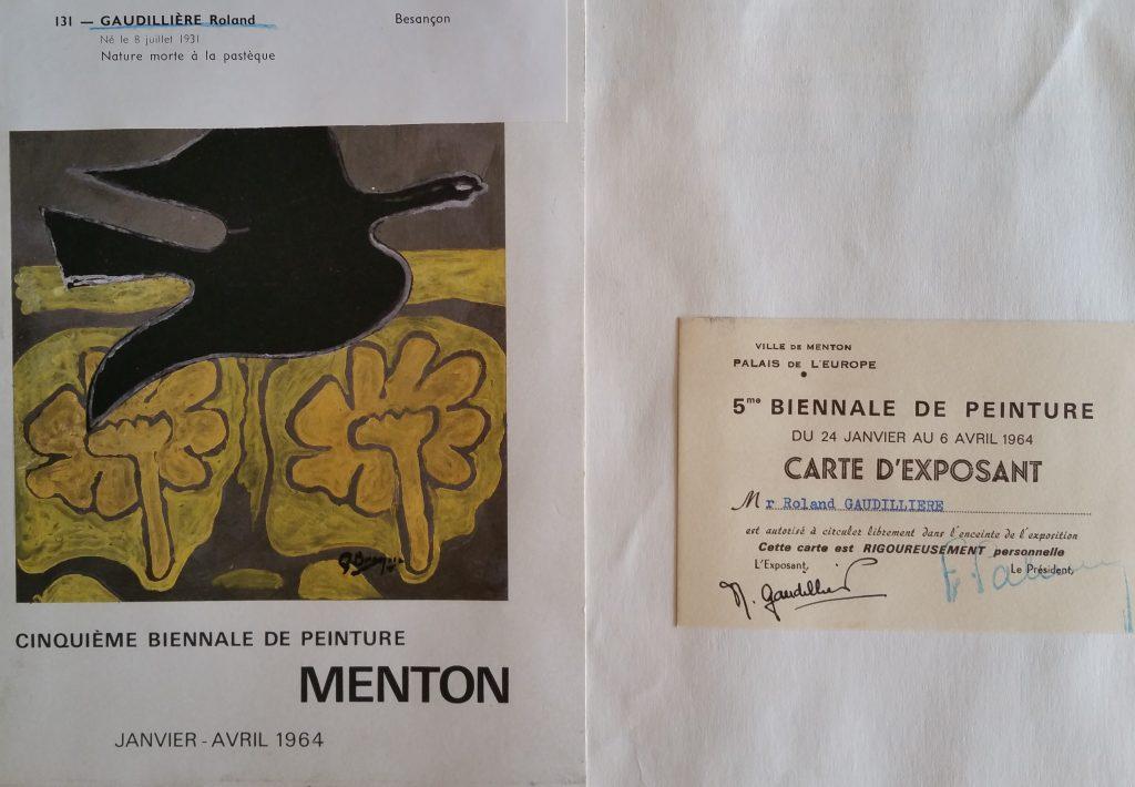 34-1964 expo groupée Biennale de Menton