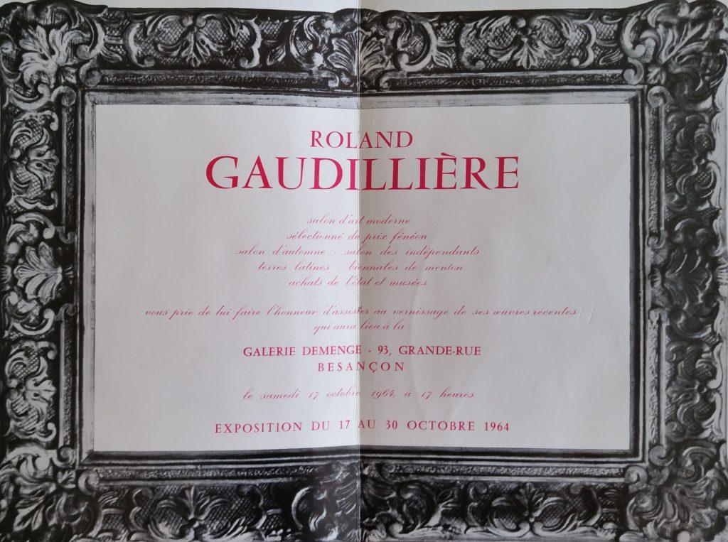 36-1964 carton d'invitation expo gal.Demenge