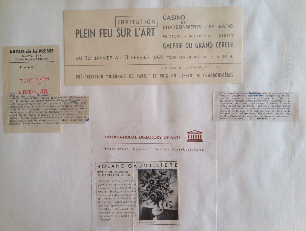 39-1965 expo groupée gal.du Grand Cercle,Charbonnières les Bains