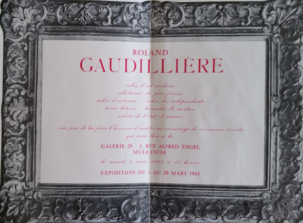 41-1965 carton d'invitation gal.29 Mulhouse