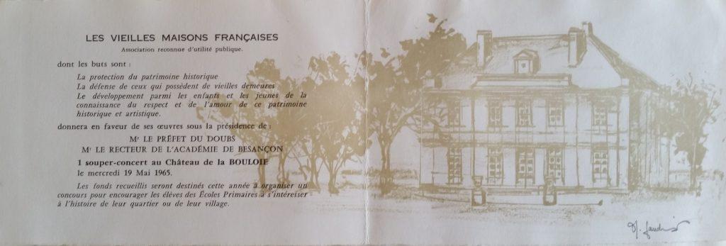 47-1965,carton d'invitation réception