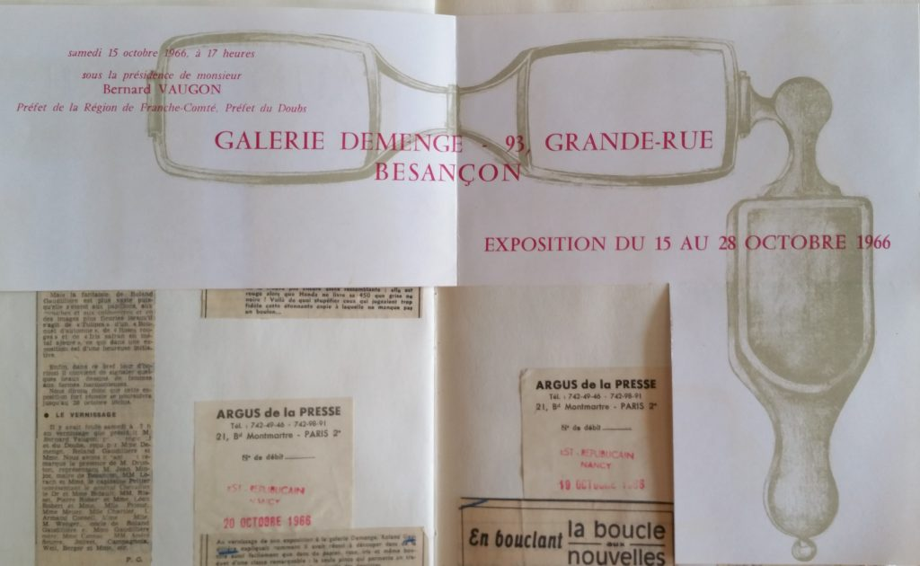 56-1966 carton d'invitation expo Demenge