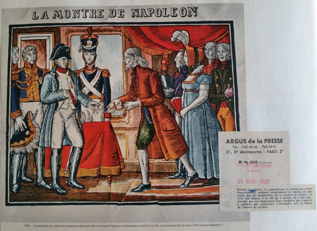 57-1967 Lip offrant une montre à Napoléon