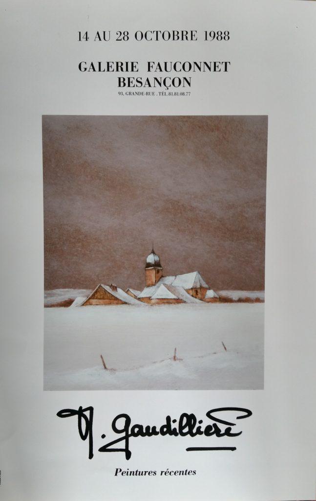 90-1988 affiche expo Fauconnet