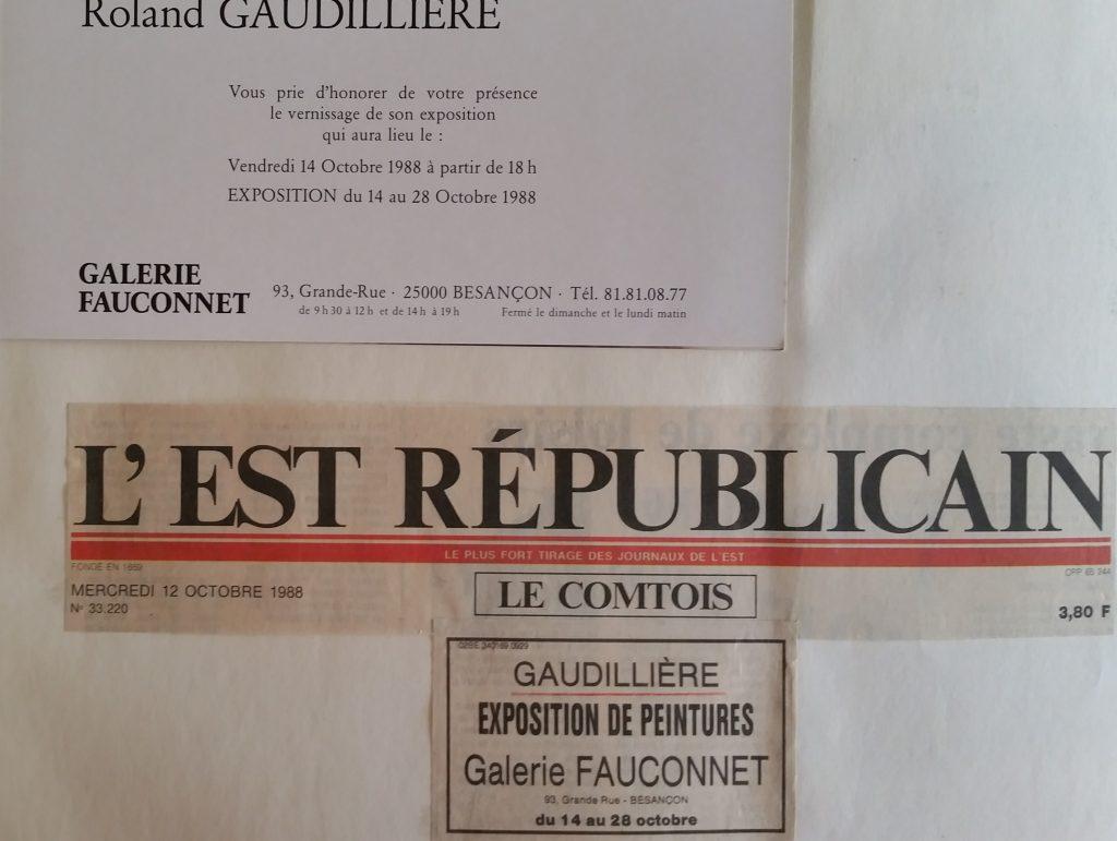 90-1988 carton d'invitation