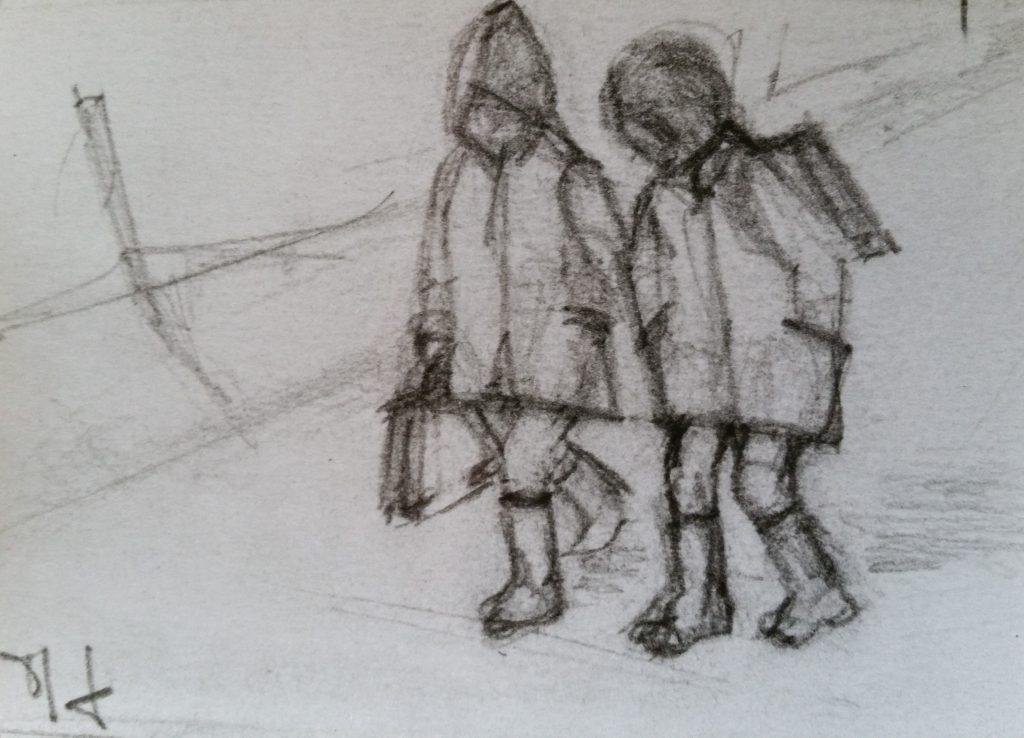 08-1985 enfants extraits carnets de croquis