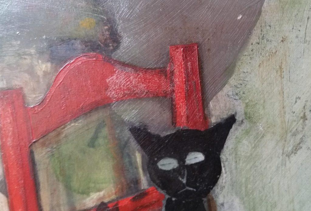 1950 le chat noir détail signature