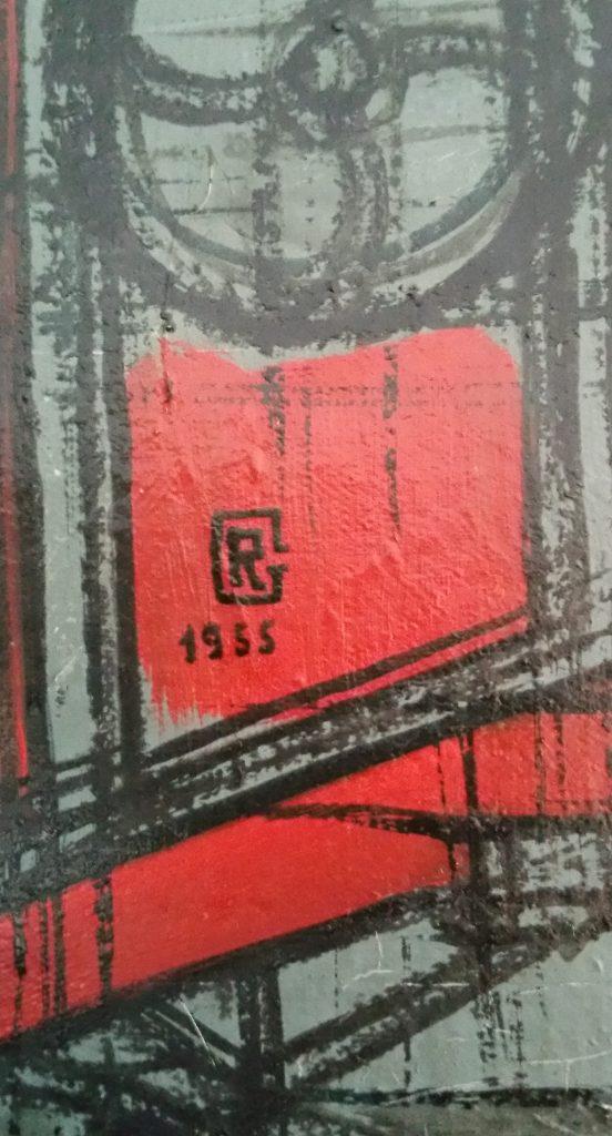 1955 la batteuse détail signature