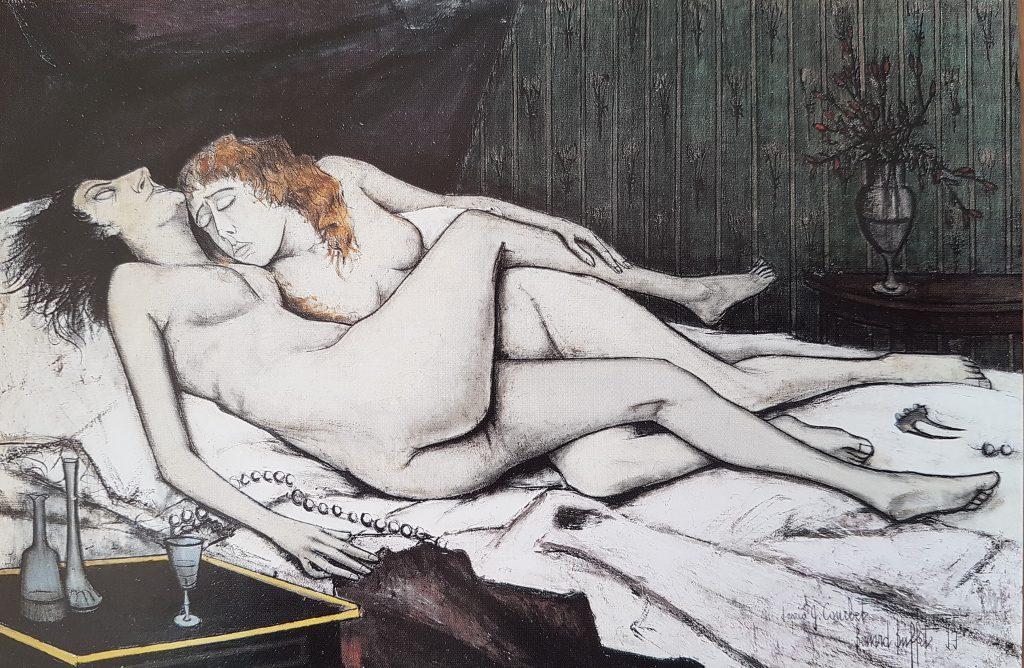 1955 le sommeil bernard Buffet,hommage à Courbet