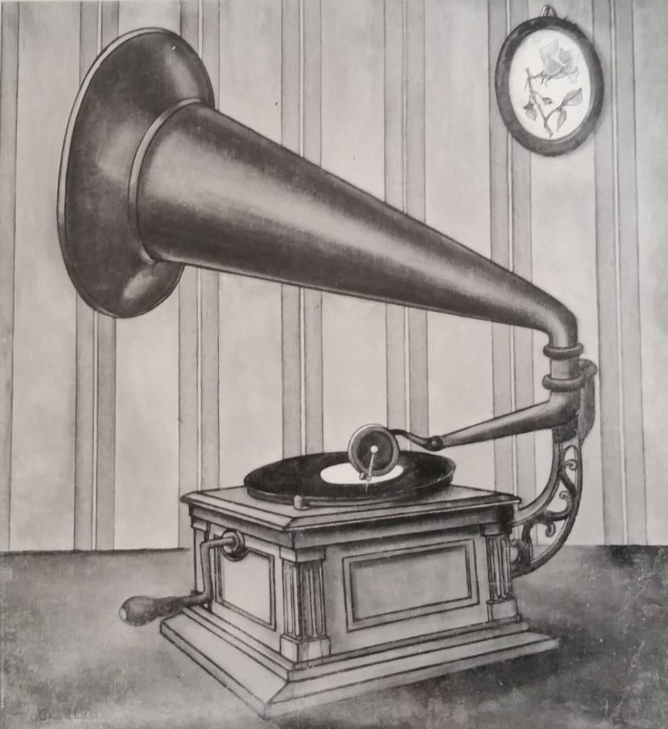 1958-1 le gramophone toile