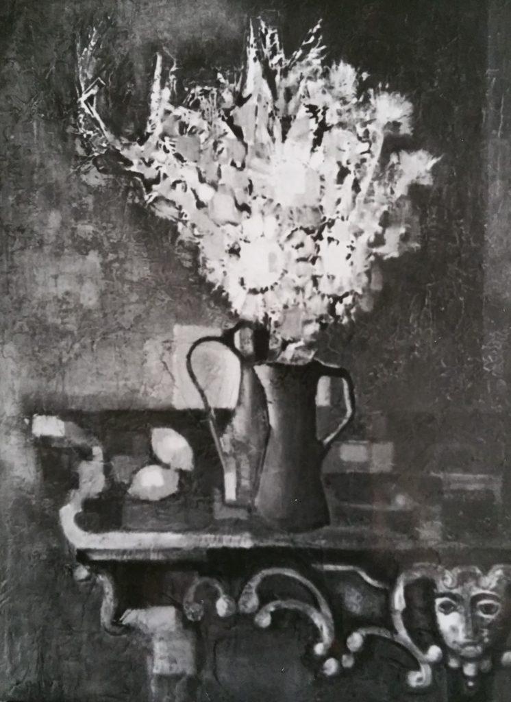 1960-23 le bouquet à la console ou Nature morte 50F 1,15-0,88 isorel
