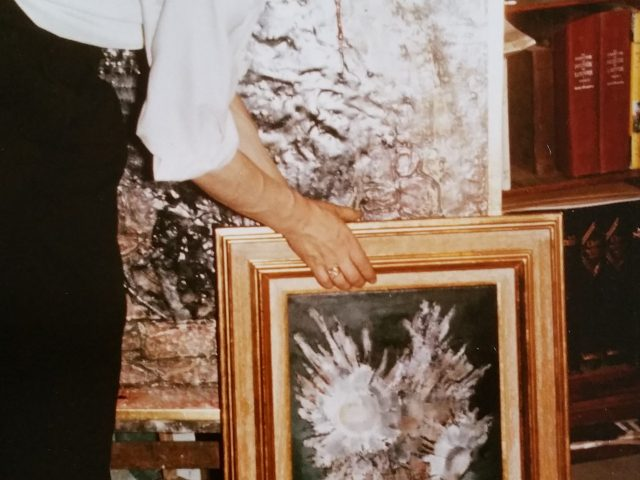Le bouquet blanc et Roland