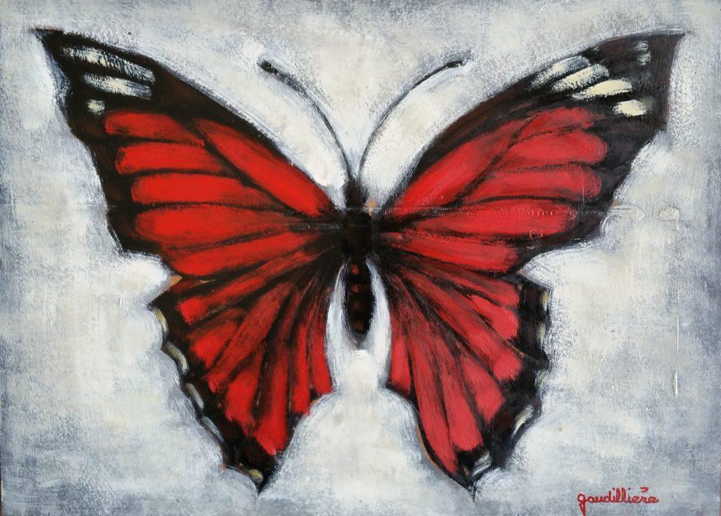 1960 le papillon 0,24-0,33 panneau bois