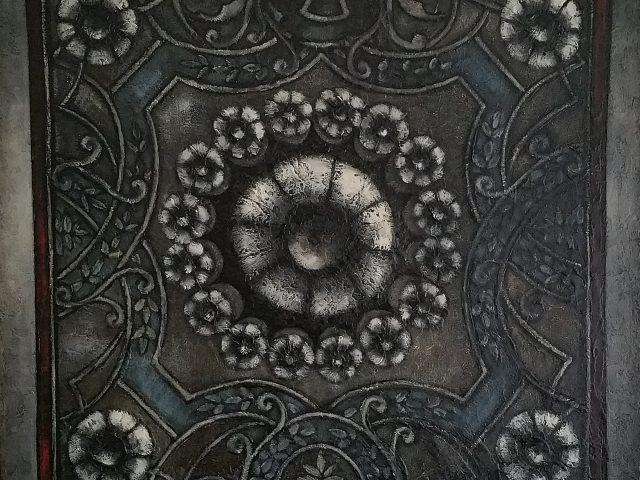 Le plafonnier, la tapisserie