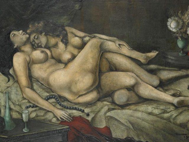 Les deux amies ou Le sommeil Hommage à Gustave Courbet