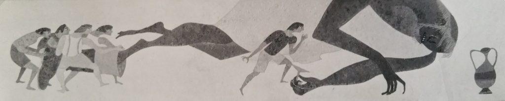 1962-20 l'ogre et le petit poucet,maquette de la fresque 10,35-2,15,17m2