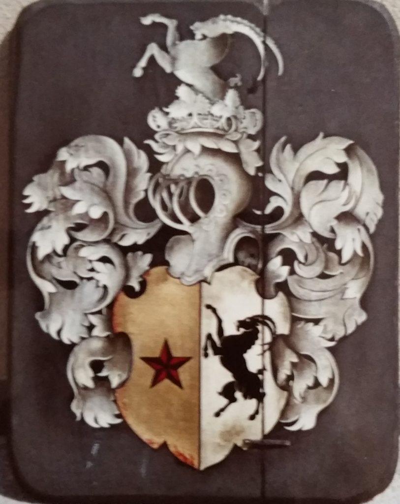1965-40 armoiries Nigg, nom de jeune fille de Lidvina,1ere épouse 0,56-0,44 panneau bois