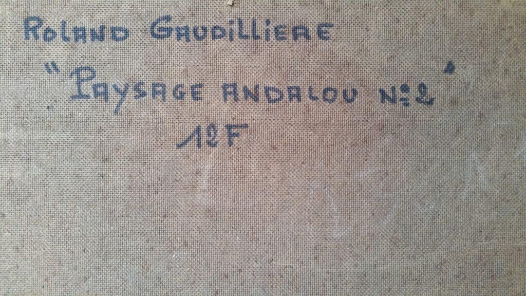 1971 paysage andalou n°2 verso