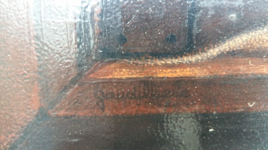 1977 le tableau retourné signature