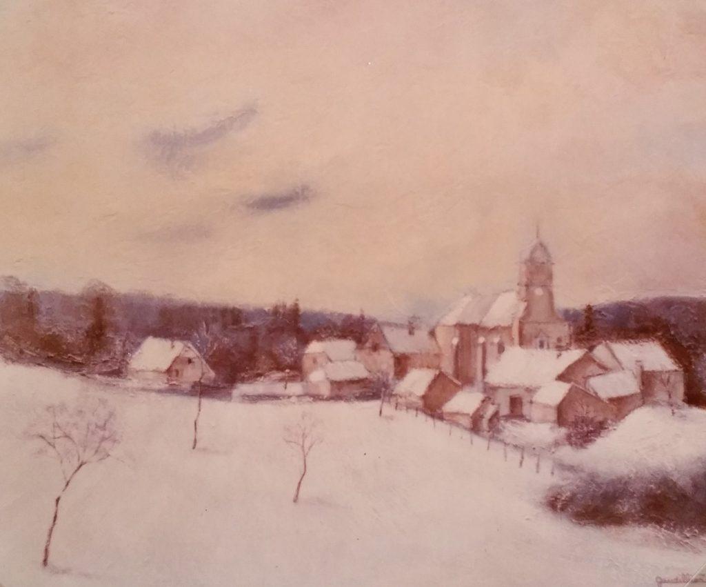 1982-8 village sous la neige 12P 0,46-0,61 isorel