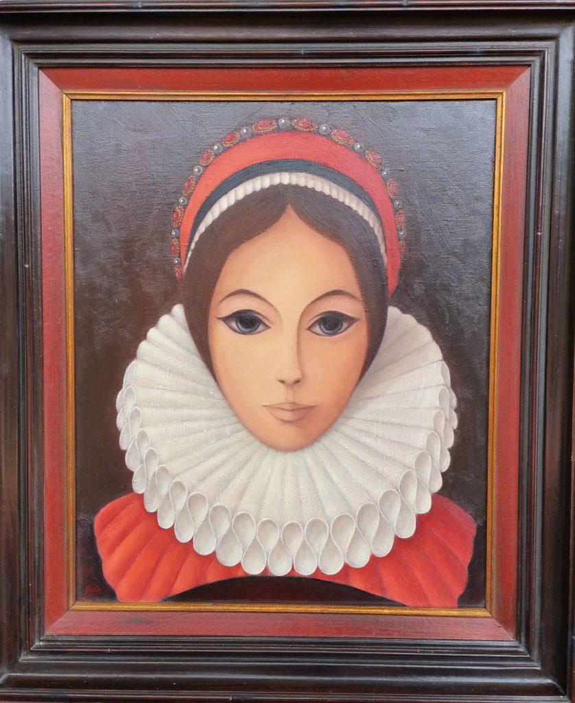 1982 la jeune fille à la colerette 0,46-0,38 toile