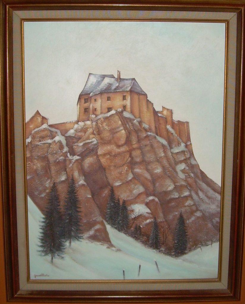 fort ou chateau de Joux 0,61/0,46 isorel médicis sal antiq