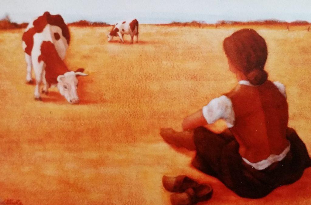 1983-4 au champ,les vaches 5P 0,24-0,35 isorel