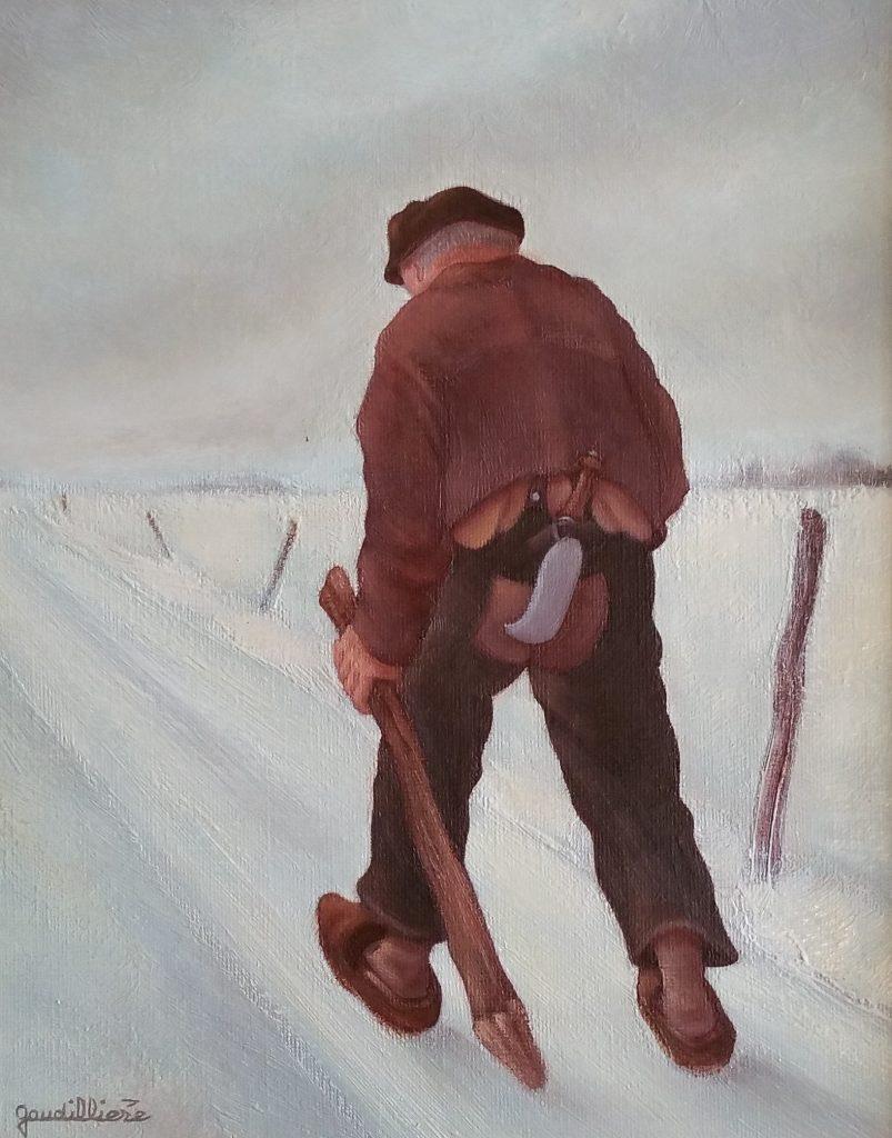 1983 l'hiver 3F 0,27-0,22 toile