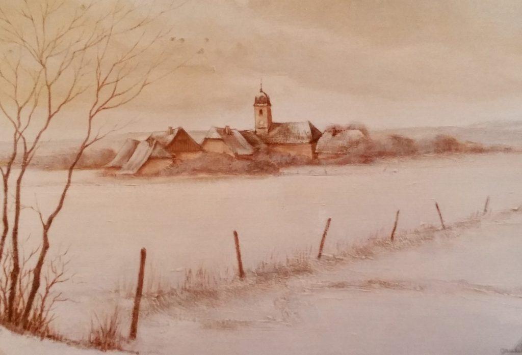 1984-10 le village sous la neige 10P 0,38-0,55 isorel