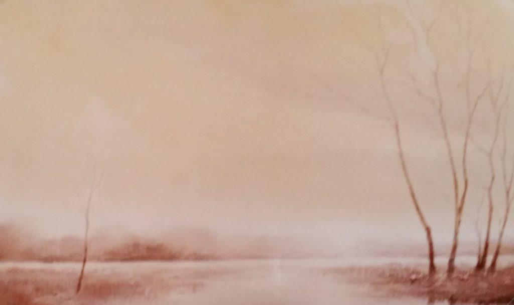 1984-4 l'étang dans la fôret 10P 0,38-0,55 isorel