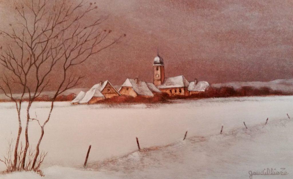 1987-36 le village sous la neige 2P 0,16-0,24 isorel
