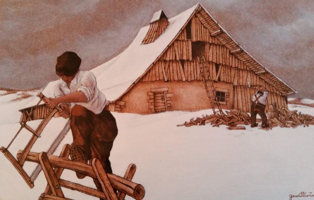 1988-9 le bois pour l'hiver 6P 0,27-0,41 isorel