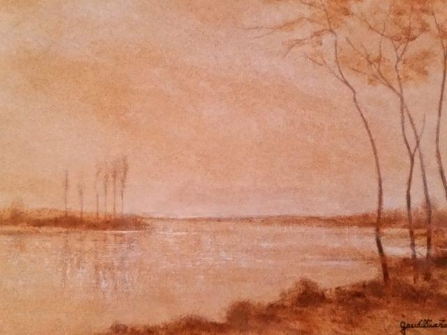 Les arbres du bord de l'eau – crépuscule