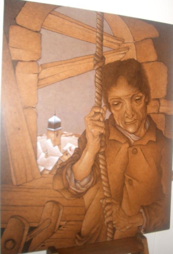 1994 le bedeau 25F 0.80 0.65 isorel,dans l'atelier