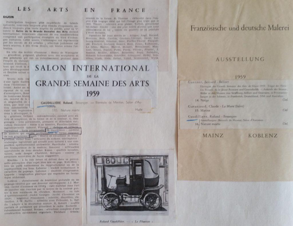 4-1959 expo groupée Salon intern.de la grande semaine des arts Dijon