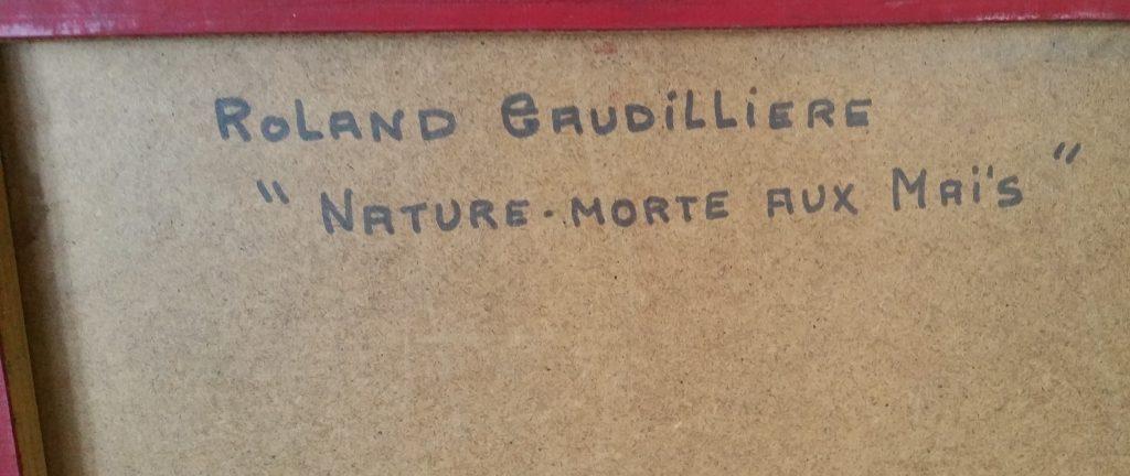 1964 nature morte aux maïs n°1 verso