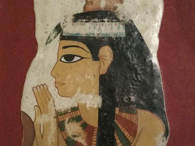 Tombe de Nebamon, Thébes, portrait de l'épouse