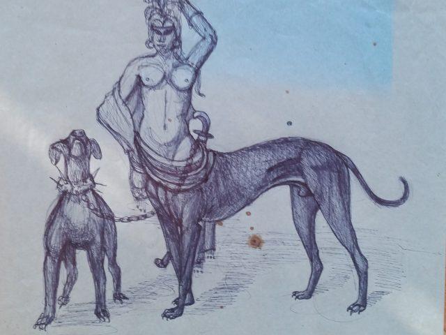 La gorgone, femme chien