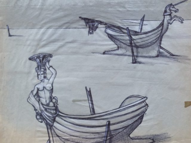 La proue, les deux barques