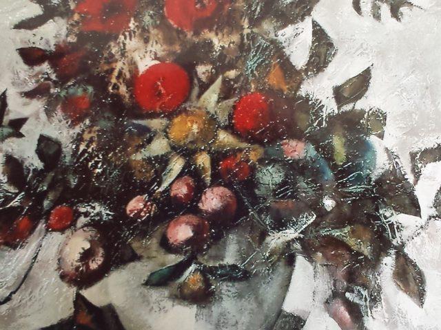 Bouquet pompons rouges